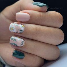 Girls Nail Designs, Flower Nail Designs, Hair And Nails, My Nails, Pointed Nails, Pretty Nail Art, Long Nails, Short Nails, Dream Nails