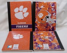 Clemson University Tigers NEW 4 Composition Notebooks College Ruled Ofc Licensed #CRGibsonMarkingsOfficiallyLicensed #2016NationalChampionClemsonTigers