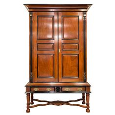 Antique Indo-Dutch or Dutch Colonial Mahogany and Ebony Cupboard | From a unique collection of antique and modern furniture at https://www.1stdibs.com/furniture/asian-art-furniture/furniture/