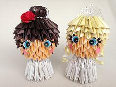 Handmade Wedding Cake Toppers  100% Paper  www.memyselfandte.com