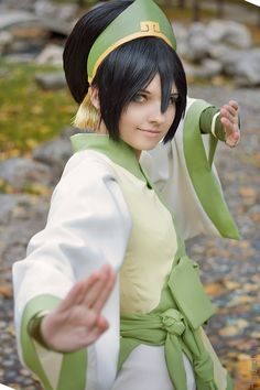 Toph Bei Fong from Avatar: The Last Airbender rest at http://dailycosplay.com/2014/October/16b.html #cosplay