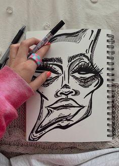 Dark Art Drawings, Pencil Art Drawings, Art Drawings Sketches, Arte Grunge, Grunge Art, Gcse Art Sketchbook, Psychedelic Drawings, Trash Art, Art Diary