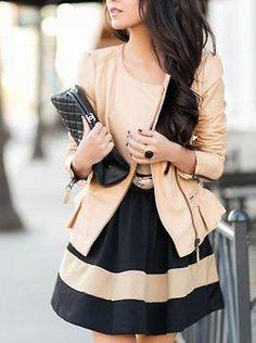 Zara Bloggers Beige Nude Biker Leather Jacket with Ruffle Detail