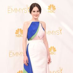 Michelle Dockery in Rosie Aussolin at Emmy Awards 2014