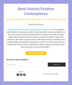 Ostrich Feathers and Ostrich Feather Centerpieces rentals