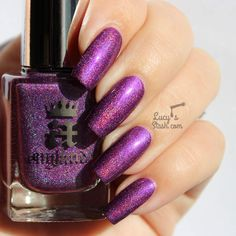 A England ● Elizabeth & Mary Collection ● Crown of Thistles Gorgeous Nails, Love Nails, Pretty Nails, Scotland National Flower, Confessions Of A Shopaholic, Bright Purple, Nail Tutorials, Nail Colors, Acrylic Nails
