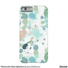 Watercolor Paint Splatters Barely There iPhone 6 Case