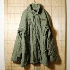 ダメージM-65 2rd.モデル/USA製60sミリタリー古着/オリーブドラブ/アルミジップフィールドジャケット/SMALL・LONG
