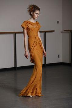 Burnt orange fur. White shorts. Long dresses. Razor sharp eyebrows. all from tfs