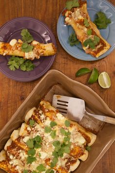 These chicken enchiladas can be whipped up in minutes for an easy weeknight meal.