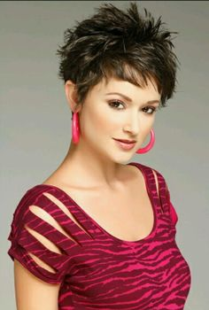 Short spikey cut.. my new do. Just needs to grow out a little to achieve this look. Love my short hair.