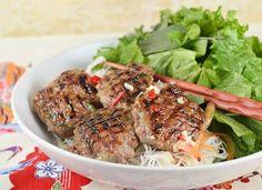Bun Cha - Vietnamese Meatballs, a street food recipe replicated from a recent vacation.