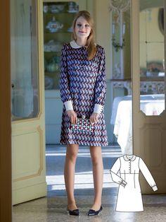 Vintage Patti Dress #V8 http://www.burdastyle.com/pattern_store/patterns/patti?utm_source=burdastyle.com&utm_medium=referral&utm_campaign=bs-tta-bl-151216-1960sVintagev8