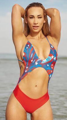 Women of Pro Wrestling Wrestling Divas, Women's Wrestling, Sexy Bikini, Bikini Girls, Bikini Babes, Bikini Models, Divas Wwe, Plus Size Beach Wear, Carmella Wwe