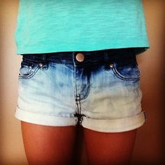 DIY ombre shorts...could also do with capris