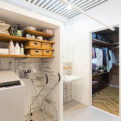 タブチキヨシさん設計のお住いでのホシ姫サマ設置例01 Laundry Area, Laundry Room Design, Bathroom Inspiration, Interior Inspiration, Walk In Closet, New Homes, Sweet Home, Bedroom Decor, Home Appliances