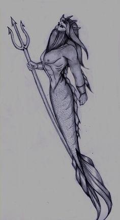 Poseidon tattoo for my left side calf Poseidon Drawing, Poseidon Tattoo, Tattoo Girls, Girl Tattoos, Tattoos For Guys, Et Tattoo, Piercing Tattoo, Torso Tattoos, Sleeve Tattoos