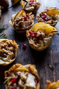 Crispy Prosciutto Baked Brie Bites with Honey Pears   Walnuts | halfbakedharvest.com @hbharvest