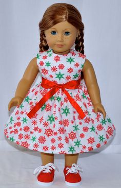 This Dress Fits American Girl Dolls and Other 18 Inch Soft Body Dolls  All Seams Are Surged To Give A Professional Look To The Inside Of The