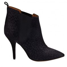 951314f64b2 $199.00 Cleane bootie in marine from Isabel Marant. These suede booties  feature a black animal