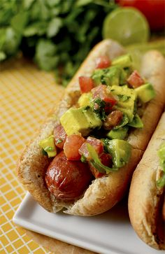 Fire Up the Grill: Chilean Style Hot Dogs with Avocado-Chili Relish | BHG Delish Dish