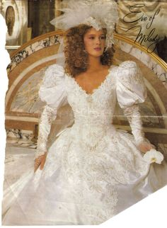 Look at the detail on this gorgeous 1980 Eve of Milady wedding dress. 1980s Wedding Dress, Eve Of Milady Wedding Dresses, Wedding Dresses Size 14, Formal Dresses For Weddings, Gorgeous Wedding Dress, Bridal Dresses, Beautiful Dresses, Wedding Gowns, Formal Wedding