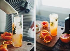 Gin Sparkler: gin, rosemary syrup, blood orange juice, tonic | Sprouted Kitchen