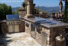 Outdoor Bbq Grill, Concrete Counter  Outdoor Kitchens  The Green Scene  Northridge, CA