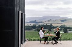 Not just your average winery, Black Estate is also a restaurant with a tasting room which is accompanied by gorgeous views of the vineyard and hills.