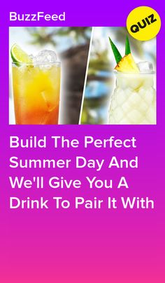 Build The Perfect Summer Day And We'll Give You A Drink To Pair It With Summer Mixed Drinks, Malibu Rum Drinks, Pina Colada, Summer Days, Wellness