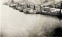 St. Louis Riverfront, 1877. #STLPRS Photo; Missouri History Museum