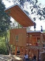 Résultats de recherche d'images pour «tree house construction sips» Cottage Design, House Design, Sips Panels, Building A Cabin, House On Stilts, Container Architecture, Prefabricated Houses, Local Architects, Box Houses