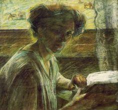 Portrait of a Young Woman - Umberto Boccioni - The Athenaeum