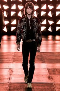 Hedi Slimane's psychedelic visions at Saint Laurent have had the ladies ditching their refined minimalism for fur chubbies and platform sandals since Look 1 of his Spring show.