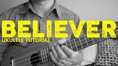 "Learn how to play ""Believer"" by Imagine Dragons. This EASY ukulele tutorial includes the chords, chord progression, strumming pattern, and lyrics for this so. Ukulele Chords Disney, Ukulele Songs Beginner, Cool Ukulele, Uke Songs, Ukulele Cords, Classical Guitar, The Way You Are, Imagine Dragons, Ed Sheeran"
