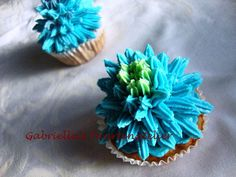 Blauwe cupcake!