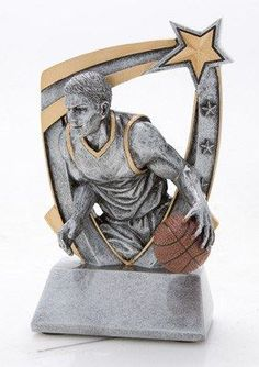 3-Dimensional Resin Male Basketball Trophy