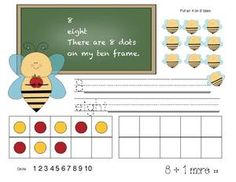 FREE 10-frame activity packet. Use for all sorts of things!