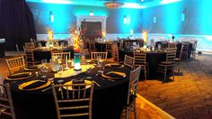 A Birthday Party using the new gold chiavari chairs!