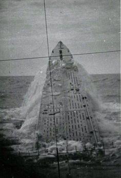 U-237 breaching the surface North Atlantic 1943