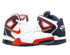 Nike Air Flight Falcon White Midnight Navy Sport Red Mens Basketball Nike. $89.99