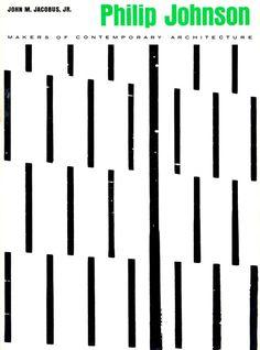Elaine Lustig Cohen|Philip Johnson|||#bookcoverdesign #visualcommunication #design