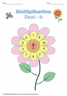 Flower Theme: Multiplication Facts