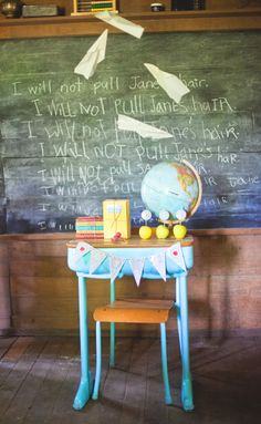 Vintage Classroom Back to School Photoshoot