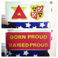 Fraternity cooler I painted for Delta Chi!