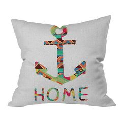I pinned this Bianca Green You Make Me Home Pillow from the Coastal Contemporary event at Joss and Main!