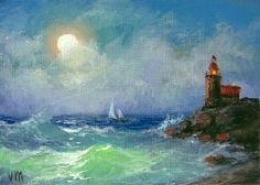309  The Lighthouse  ACEO  open edition by vladimirmesheryakov, $2.99