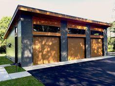 Rv Garage, Prefab Garage With Apartment, 3 Car Garage Plans, Building A Garage, Garage Remodel, Garage Apartments, Garage Doors, Garage Ideas, Entrance Doors