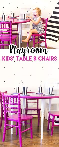 Adorable Kids' Table and Chairs on PIzzazzerie.com