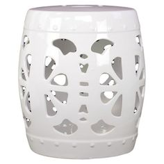 White Ceramic Garden Stool   Overstock™ Shopping - Great Deals on Urban Trends Collection Garden Accents